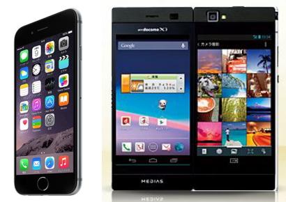 iPhone6とMEDIAS WN-05E