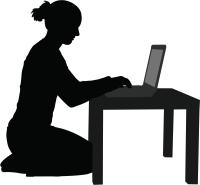PC女性影絵1